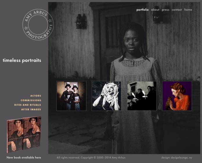Amy Arbus- homepage